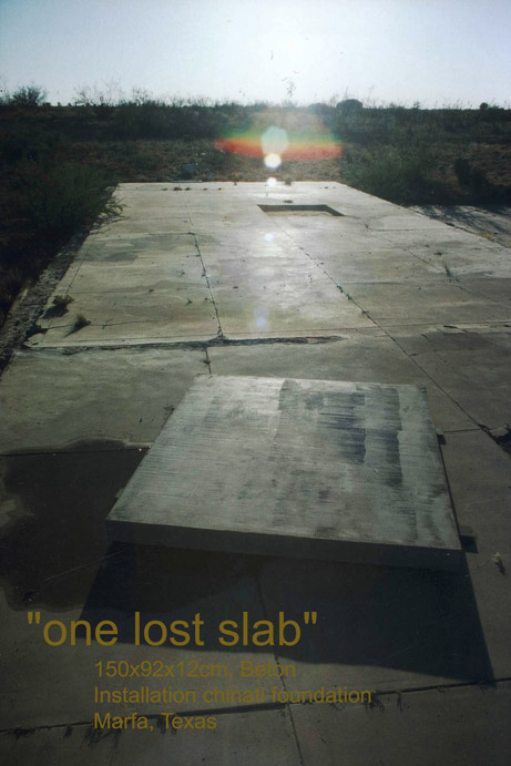 one lost slab, Michael Toepffer, Mitokg, marfa Chinati foundation, Donald Judd